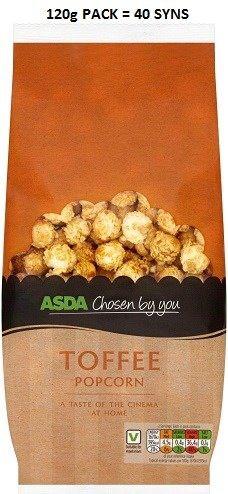 Asda Chosen By You Toffee Popcorn Syns Toffee Popcorn, Slimming World Syns, Asda, Vegetables, Food, Essen, Vegetable Recipes, Meals, Yemek