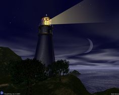 lighthouses at night | Lighthouse At Night In Maine