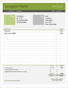 Download a free Simple Invoice template for Excel. Easy to use and to customize. Uses the new Vertex42 Bold and Light themes.