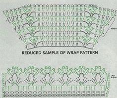 Схема накидки крючком stitch crochet