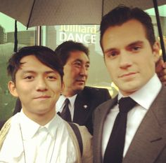 FLASHBACK FAN PIC Ken had the opportunity to meet Henry at the Man of Steel premiere in New York, and shared this great picture.