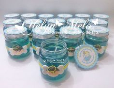 vasos decorados para baby shower - Buscar con Google