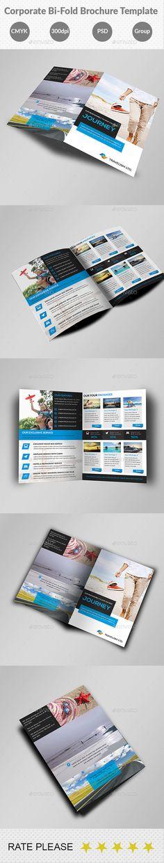 Corporate Bi-Fold Business Brochure Template #design #broschüre Download: http://graphicriver.net/item/corporate-bifold-business-brochure-template/12345069?ref=ksioks