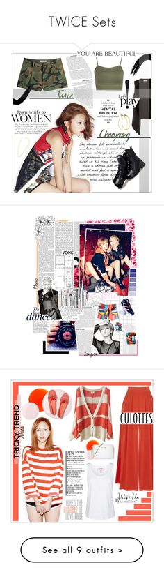 """TWICE Sets"" by kairimikio ❤ liked on Polyvore featuring Rosa de la Cruz, Velvet by Graham & Spencer, Valentino, Sunsteps, WearAll, Jill Platner, Nicki Minaj, Anja, adidas and Warehouse"