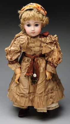 Spectacular Jumeau Triste. Lot 32 Selling Antiques, Antique Dolls, Vintage Dolls, Doll Costume, Antique China, China Dolls, Bisque Doll, Beautiful Dolls, Fashion Dolls
