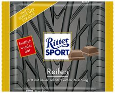 RITTER SPORT Fake Schokolade Sorte Reifen