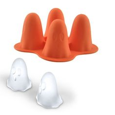 """- Makes 4 ghost ice cubes - Great for making chocolates, gelatins, soaps and more - Made from heat and cold resistant, food safe silicone - Not recommended for use in dishwasher - Approx. 3.9"""" x 3.9"""""""