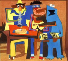 Picasso Parody.  The Three Muppet Musicians