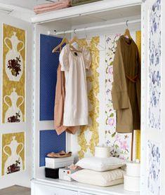 DIY: van reststukken behang maak je zelf ook zo'n mooie kast: 101woonideeen.nl/zelfmaken/patchworkkast.html