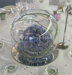 Fish Bowl Bubble Bowl Table Centerpieces