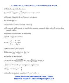 Examen 47, 1º Bachillerato, Matemática