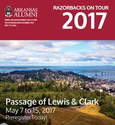 Trace the fabled path of Lewis and Clark on this epic voyage that highlights the natural grandeur of the Pacific Northwest. From Clarkston to Portland, cruise the Columbia and Snake Rivers aboard the elegant American Empress, stopping at Sacajawea State Park, The Dalles, Stevenson, and Astoria. #RazorbacksOnTour, learn more at http://ow.ly/QrGB301sxOE