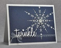 Twinkle Snowflake from Joyful Creations with Kim using Memory Box's Dazzling Snowflake and Tim Holtz Holiday Words (Script).