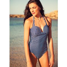 On the Dot Swimsuit -- Navy Blue