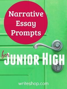Build writing skills with narrative essay prompts for junior high! Fun topics include unexpected visitors, trail blazers, and successful underdogs.