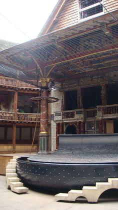 The stage at London's Globe Theater (Joe Cruz photo).