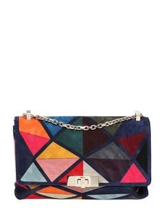 ROGER VIVIER - MINI PRISMICK MARQUETRY SUEDE BAG - LUISAVIAROMA - LUXURY SHOPPING WORLDWIDE SHIPPING - FLORENCE