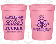 Custom Cups, Personalized Cups, Wedding Cups, Personalized Plastic Cups, Stadium Cups, Party Cups, Plastic Cups (498)