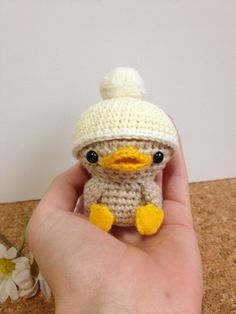 Crochet Brown Duck-Chan with Removable Hat (I've Sell tetote. -Lilt-)