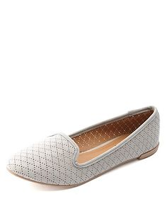 Perforated Smoking Slipper Loafers: Charlotte Russe