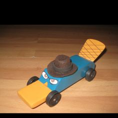 Agent P pinewood derby car.