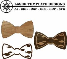 Bow Tie - Love Fish 3d -Perfect to laser cut with the Glowforge Epilog, Trotec Laser or Cricut. Instant Digital Download. File comes in AI, EPS, DXF, PDF and SVG files. Vinyl Cutting, Laser Cutting, Trotec Laser, Rhyming Slang, Silhouette Studio Designer Edition, Laser Printer, Cricut Design, Acrylics, Woods