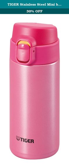 TIGER Stainless Steel Mini bottle <Saharamagu> lightweight dream gravity one push 0.36L Pink MMY-A036-PP (japan import).