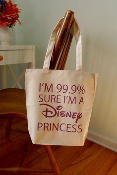 princess tote bag disney princess 99.9 princess by rachelwalter, $14.00