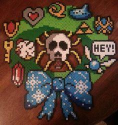 Legend of Zelda Wreath! Perler Beads by kittenlovee