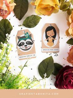Etiquetas - Imprimible Pocahontas