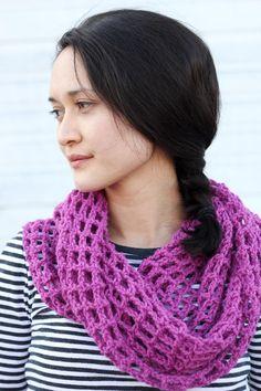 Quick and Easy Mesh Crochet Cowl   AllFreeCrochet.com