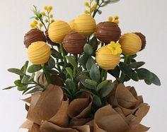 GIFT BASKET Cake Pops Floral Arrangement  Bouquet  10 set