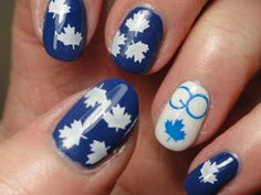 ...every Saturday night at my house...and here's one for the home team!    My hubby is a huge Toronto Maple Leaf fan and our tv is turned on...