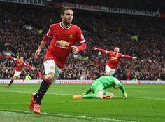 Juan Mata,  Man United vs Man city, 12th April 2015, 4-2