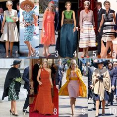 The outfits of Queen Maxima in Australia and New Zealand. What is your favorite?