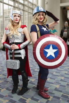 Gender swapped Thor and Captain America