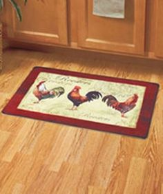 rooster kitchen rugs french country | rooster harvest napkin