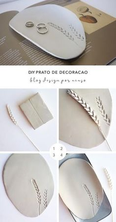 DIY Clay Coasters by Refined Design - personalized clay coasters you can make from home! Perfect craft project and gift idea for weddings, Christmas, and birthdays. Polymer Clay Crafts, Diy Clay, Polymer Clay Jewelry, Ceramic Clay, Ceramic Pottery, Slab Pottery, Ceramic Bowls, Mainzu Ceramica, Clay Christmas Decorations