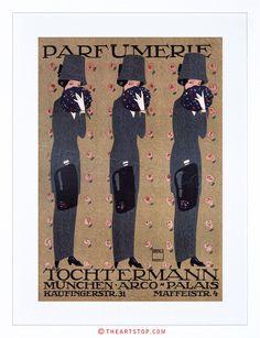 VINTAGE-AD-TOCHTERMANN-PERFUME-MUNICH-GERMANY-FRAMED-PRINT-F12X6663