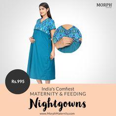 a0b7446bbe4 Blue Ikat Feeding Nighty - Sleep. NightiesIkatBreastfeedingPregnancyComfyBreast  FeedingConceiving