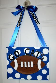 Kentucky Wildcats Football Hand Painted by MustLoveArtStudio, $29.99