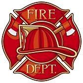 Departamento de bomberos. Escudo. Fire Dept.