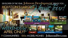 @NiedriaKenny: HOUSTON'S LARGEST HOME TOUR RETURNS IN APRIL. 12 communities 100 model homes 334 available homes #TheJohnsonDevelopmentCorp 2001 decor ideas