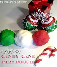 Scented Gluten Free Candy Cane Playdough
