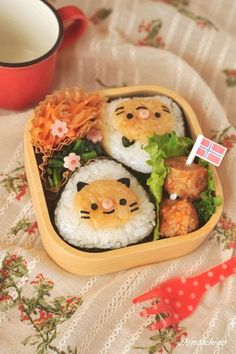 Kitty Onigiri Rice Balls Bento Lunch © akinoichigo|キャラ弁