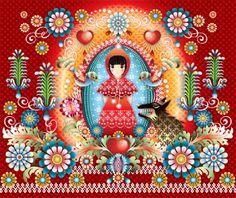 Panneau de papier peint Little Red par Catalina Estrada - Little Red wallpaper pannel by Catalina Estrada Red Wallpaper, Pattern Wallpaper, Amazing Wallpaper, Wallpaper Direct, Catalina Estrada, Art Rouge, Psychedelic Drawings, Paper Moon, Bloom