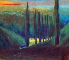 Mikalojus Ciurlionis (1875 - 1911) | Symbolism | Funeral Symphony (IV) - 1903