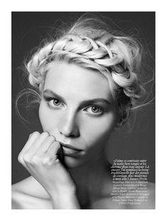 Aline Weber photographiée par Giampaolo Sgura pour Vogue Paris.