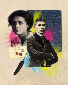 Collage de Franz Kafka y Milena