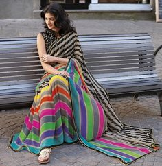 Casual saree should be light in weight